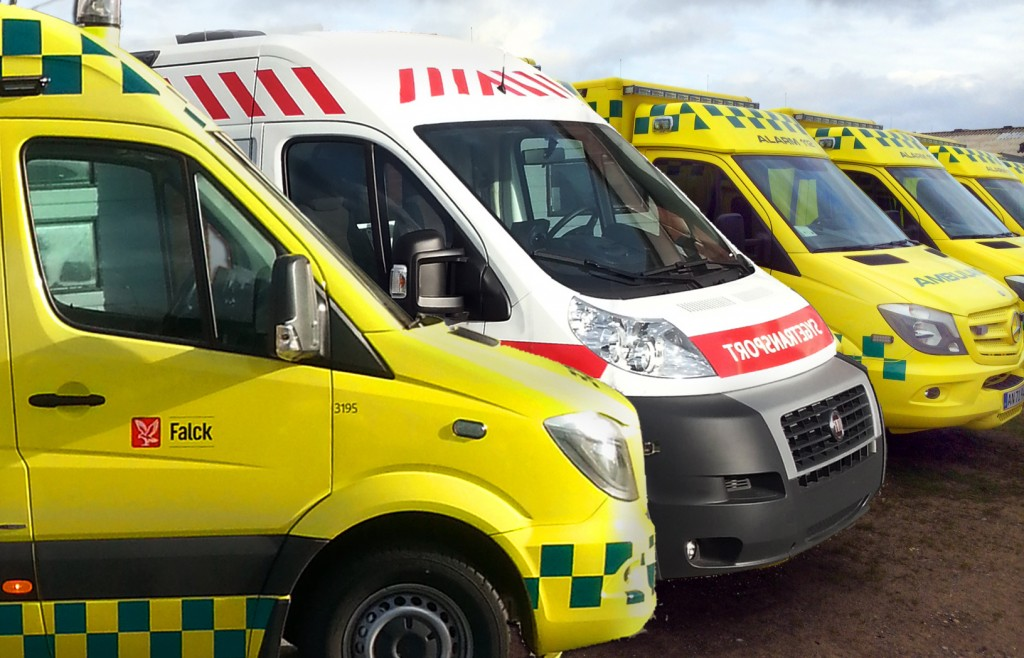 Illustration nye ambulancer Region Midtjylland