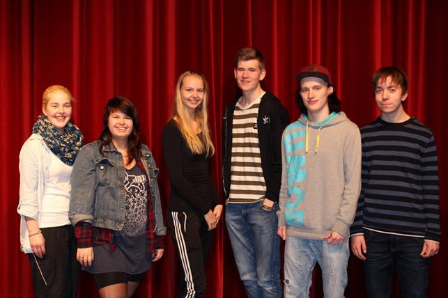 Eleverne fra Vostrup Efterskole der står bag støttearrangementet til fordel for Kræftens Bekæmpelse
